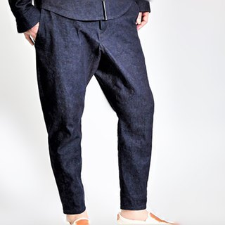 10oz denim tapered pants (switching chambray)