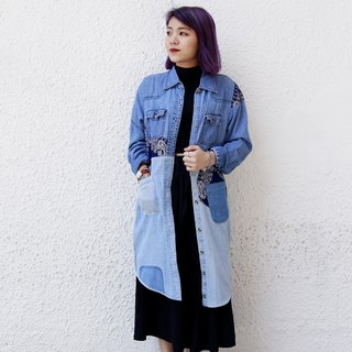 Denim Patchwork long shirt