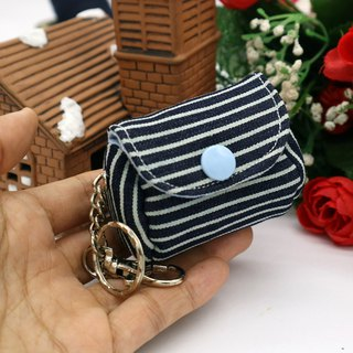 Two-tone Denim Purse Hanging Charm Purse Keyring*SK*