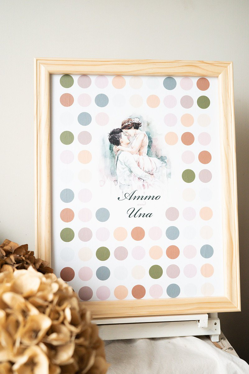Portrait wedding sign board