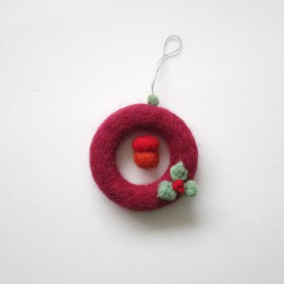 wool felt floral patterns wreath for Christmas tree decoration