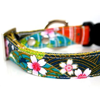 Japanese HAIKARA Dog Collar - Silver