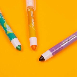 Shining lipstick fluorescent pen A. Green orange purple 3 into 1 group