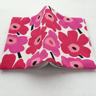Pop style two-color flower handmade book / book cover - pink (notebook / diary / hand account)