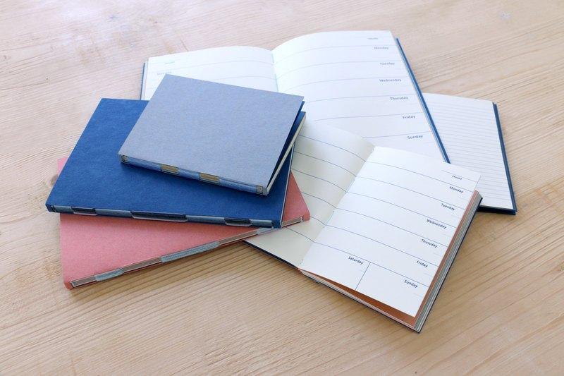 週間手帳/行事曆 (A6 深藍)