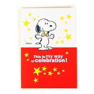Snoopy 锵锵 This is my way of celebrating [Hallmark-Peanuts-dimensional card]