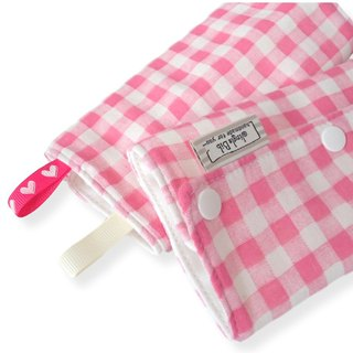 DROOL PADS, 口巾布, Ergo, Lillebaby, Baby Carrier, Pink Check, Japanese Cotton