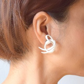 Twine Earrings White