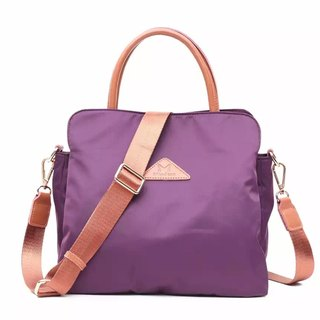 [Limited time free] simple anti-splashing water shoulder bag backpack / large capacity / handbag / oblique bag / shoulder bag / Tote bag / purple / black / gray multi-color optional # 1019