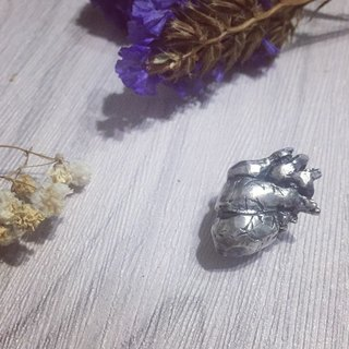 Gin à In Silver. / Human Body Series - Heart Pendant / Handmade - Silver