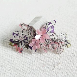 Wu Qiu Feng, automatic butterfly clip, hair clips - purple
