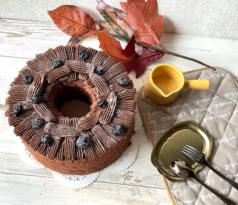 宇宙粒子巧克力戚風蛋糕6吋