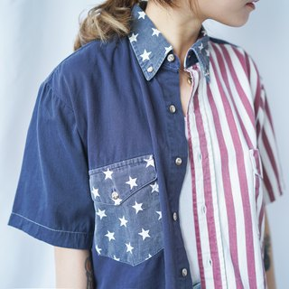 II Ancient II Japanese II Remake vintage American flag short shirt II