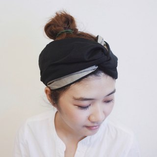 Interwoven towel cap type elastic wide / manual hair band
