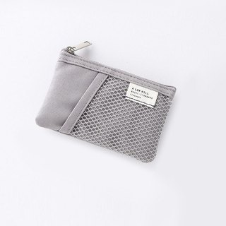 Livework leisure double double fold ticket card coin purse V2- texture gray, LWK56221