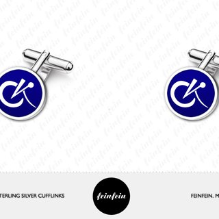 Initials Cufflinks - Personalized Cufflinks with color - Monogram Cufflinks