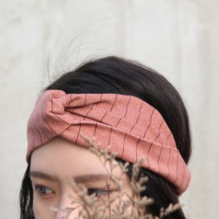 Rose tea velveteen handmade cross elastic hair band