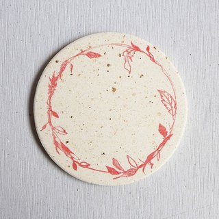 Japan [surprised] Li Feng Tang instant dry coaster - Elixir of Love (Red) Gui diatomaceous earth Diatomaceous earth instantly drops water droplets inhibit bacterial gift