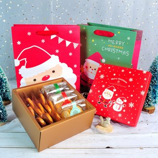 [Christmas Gift] Little Snowman Gift Box (with bag) / Butterfly Crisp Handmade Biscuits Chocolate / Exchange Gift