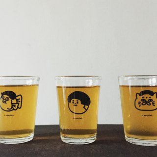 Stupid room 3 character (small) glass / beer mug / small cup (3 into a group) Valentine gift