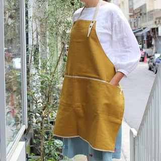 DailyAPRON Light! linen apron + linen strap | mustard yellow