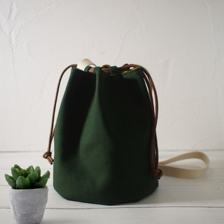 Fruit box series bag / bucket bag / limited manual bag / forest green / stock supply