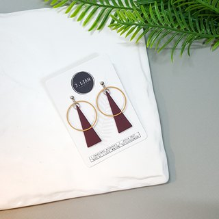 Geometric Thinking Series - Triangle Aperture (Akiyama) Ear/ear clip handmade earrings Korea direct