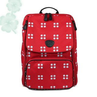 ROMI [keep the package] - four leaf red / mommy bag / backpack / parent-child package