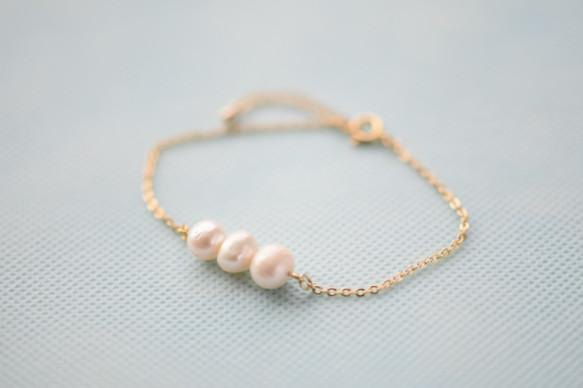 Chain bracelet of the fresh water pearl potato