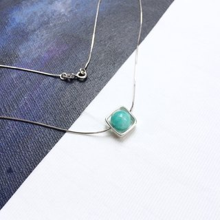 Goody Bag- 925 silver-simple amazonite necklace