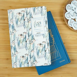 "Notebook / journal / A5 ruled page diary - ""what are we looking for"" (skinny type)"