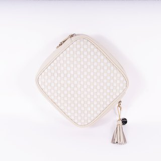 Square Cross Body / Clutch | Hand-weave Pattern | NUDE - FOSSIL