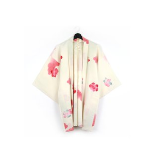 Back to Green-Japan brought back feather weave watercolor flower/vintage kimono