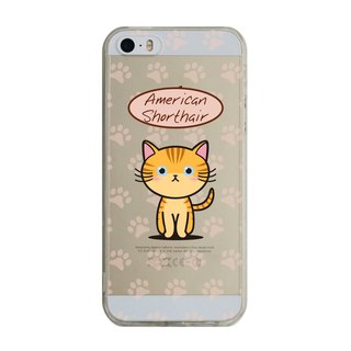 Customized American Shorthair iPhone X 8 7 6s Plus 5s Samsung S7 S8 S9 Mobile Shell