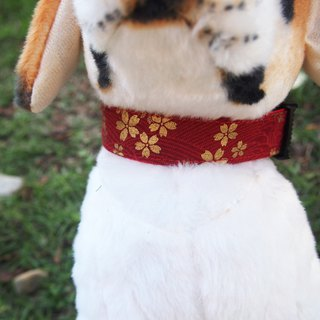 And wind cherry dog ​​collar out collar collar leash