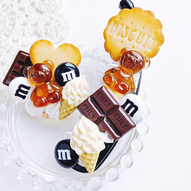 香蕉夾糖果巧克力糖果裝飾假糖果