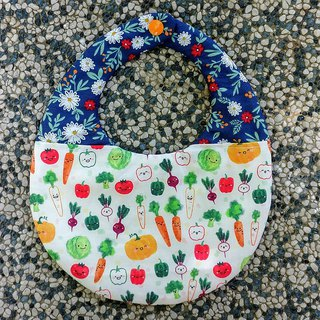 Fruit and vegetable garden double-sided hand-made bib / Miyuki gift birthday gift Christmas gift