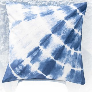 Blue dyed pillowcase / cotton pillowcase / printed pillowcase / indigo blue dyed pillowcase - blue dyed sun