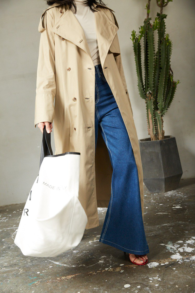 ZUO Casual Loose Long Trench Coat   Classic Khaki