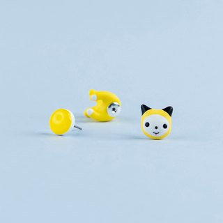 Chimmy BT21 Cat - Polymer Clay Earrings, Handmade&Handpaited Catlover Gift