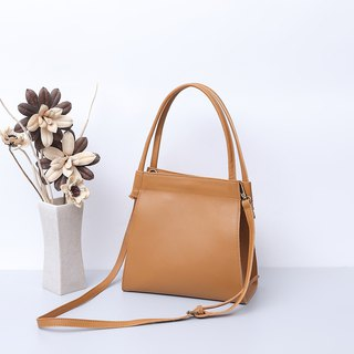 Leather cow leather shoulder bag