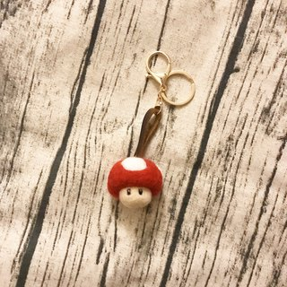 |Wool felt key ring|Handmade needle felt|Mushroom head