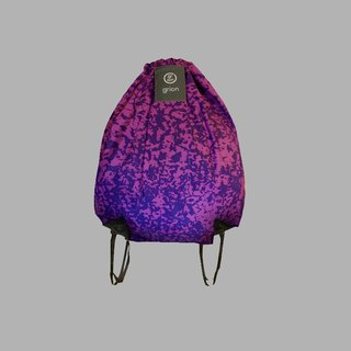 groin waterproof bag - back section (L) - Limited funds - burst crack purple