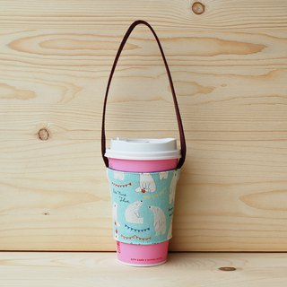Apple Polar Bear Drink Bag_Blue/Cup Set