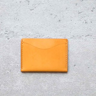 Ming yellow leather hand very simple taste card holder