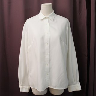Vintage European Simple Plain White Long Sleeve Loose Vintage Shirt Vintage Blouse