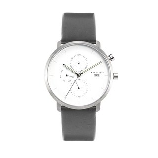 Minimal Watches : MONOCHROME CLASSIC - PEARL/LEATHER (Gray)