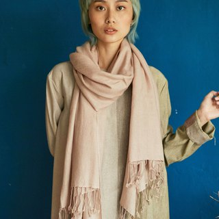 natural dyed soft wool scarf | dust pink |  fair trade
