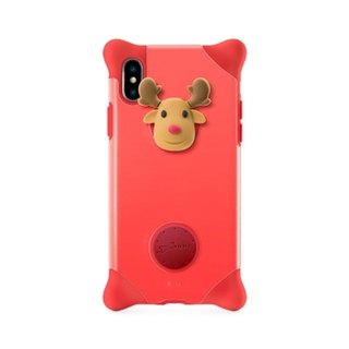 Bone / iPhone X Bubble Protector Case - Elk