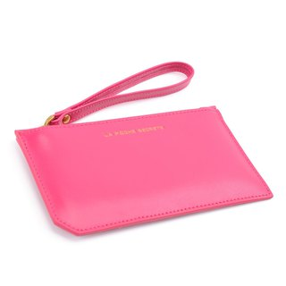 La Poche Secrete Christmas present: glossy leather long bag _ sweet peach